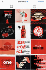 Consistent Instagram feed CocaCola