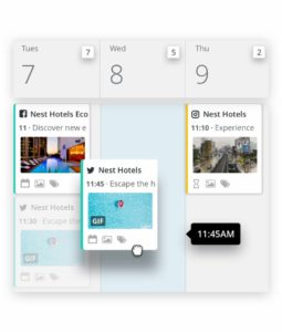 social media content planner Hootsuite